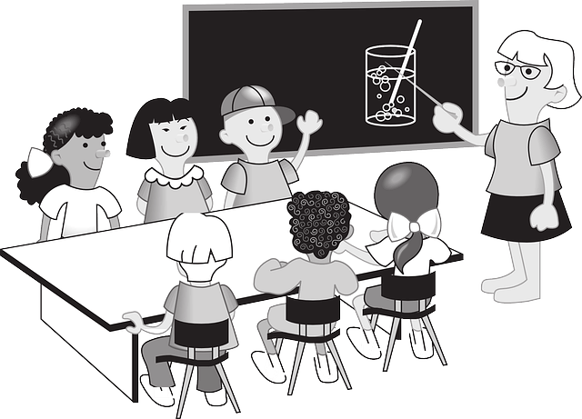 School teacher with students. Image CC0 Creative Commons. Free for commercial use / No attribution required. http://pixabay.com/en/school-teacher-teacher-school-148135/