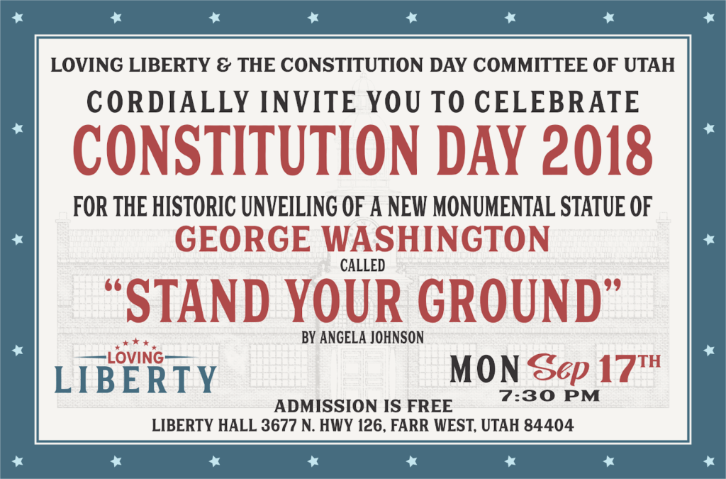Constitution Day 2018 postcard invite